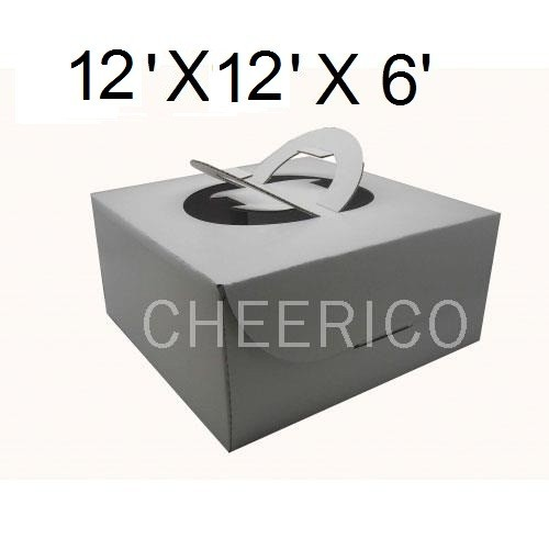 "Cake Boxes with Handle - 12"" x 12"" x 6"" ($2.50/pc x 25 units)"