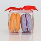 Clear  2 macaron boxes High Quality Material