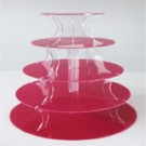 5 Tier Red Round Cupcake Stand
