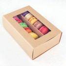 12 Macaron Kraft Window Boxes ($2.30/pc x 25 units)