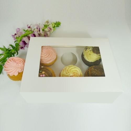 6 Cupcake Window Box w finger hole($2.00/pc x 25 units)