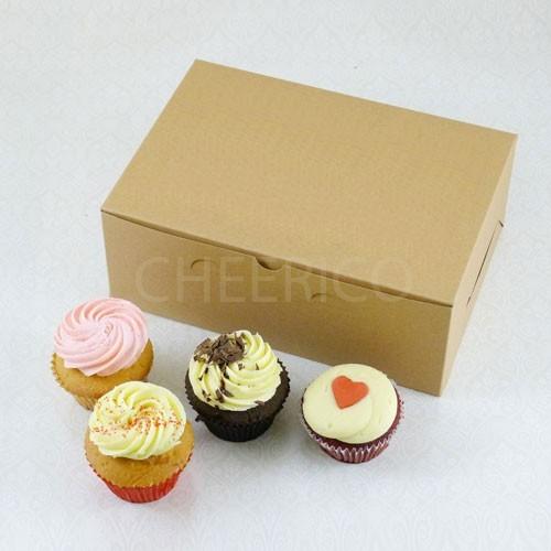 6 Cupcake No Window Kraft Brown Box($2.00/pc x 25 units)