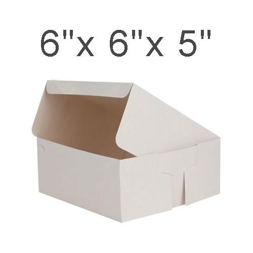 """Cake Boxes - 6"""" x 6"""" x 5"""" ($1.00/pc x 25 units)"""