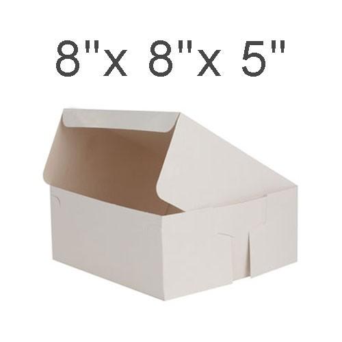 """Cake Boxes - 8"""" x 8"""" x 5"""" ($1.20/pc x 25 units)"""