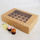 24 Kraft Brown Window Cupcake Box ($4.50pc x 25 Units)