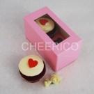 2 Cupcake Pink Window Box($1.35/pc x 25 units)
