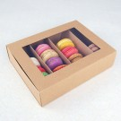 24 Macaron Kraft Window Boxes ($3.50/pc x 25 units)