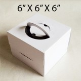 "Cake Boxes with Handle - 6"" x 6"" x 6"" ($1.50/pc x 25 units)"